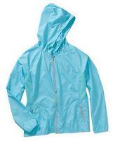 Danskin Women's Full Zip Hoodie Athletic Track Jacket Size 12-14 Large Blue Neon