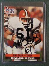 1991 Pro Set Mike Baab Autographed Card - Browns - COA