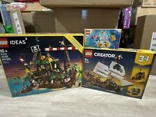 Lego Ideas Pirates of Barracuda Bay 21322 and Pirate Ship 31109 + Free Lego Gift