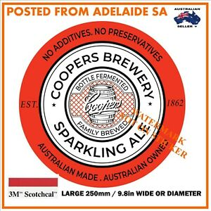 COOPERS BEER SPARKLING DECAL STICKER LABEL LARGE 250 MM WIDE