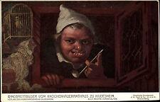 Hildesheim Niedersachsen Postkarte ~1910 Windbrettbilder vom Knochenhaueramthaus