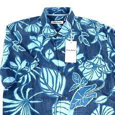 Tommy Bahama Camp Shirt Playa Mambo Ocean Deep 100% Silk T319757 New Medium