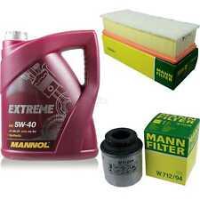 MANNOL 5L Extreme 5W-40 Motor-Öl+MANN-FILTER VW Passat 362 1.4 TSI EcoFuel
