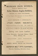 VINTAGE AD FOR MORGAN IRON WORKS AND NORWICH BELT MF'G COMPANY 1892