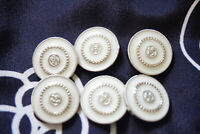 Nine Ptice for 9 Vintage Chanel Buttons white  21 mm💋💋 cc