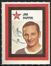 1970-71 Colgate Stamps Jim Pappin #43 Chicago Black Hawks Hockey Unused