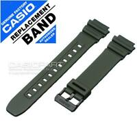 Genuine Casio Green Resin Rubber Watch Band Strap - ILLUMINATOR F-108 F-108WH-3A