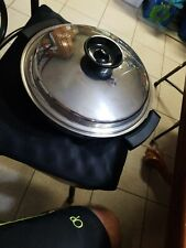 """Chefs Ware Townecraft Stainless 17450 11"""" Electric Skillet Frying Pan Lid Clean!"""