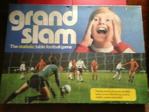 Vintage Grand Slam Realistic Football Game Spare Parts Players / Goals / Pitch