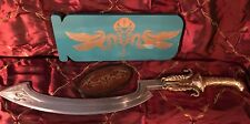 Mummy Returns Scorpion King Sword with ornate wood hanging plate NWB