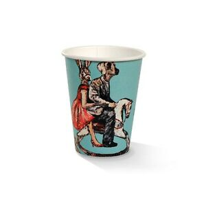 12oz PLA Single Wall Coffee Cup Art-Print  1000 pcs