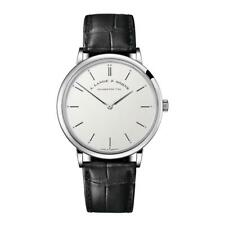 A. Lange and Sohne Men's Saxonia Thin 37mm Black Mechanical Watch 211.026