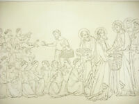 La Multipication of Pains Italy Xive Century Litho Xixth 1858 Hangard