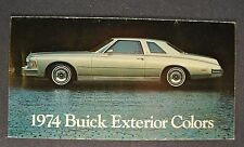 1974 Buick Paint Chip Colors Brochure Skylark Century LeSabre Electra Riviera 74