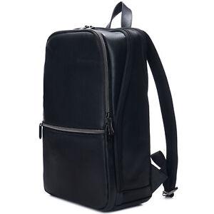 Alpine Swiss Mens Leather Laptop Backpack Travel Daypack Computer Bag Rucksack