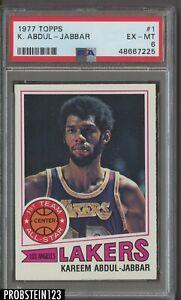 1977 Topps Basketball #1 Kareem Abdul-Jabbar Lakers HOF PSA 6 NM-MT
