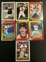 1989 1990 1991 Traded PITTSBURGH PIRATES Baseball Card Lot 7 MERCED RC LOOK !