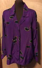 Stuart Lang Women's Blouse Purple Size 16 Good Condition