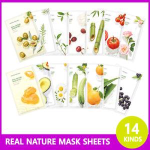 [ Nature Republic ] Real Nature Mask Sheet ( 14 Kinds Set ) Korean Skin Care