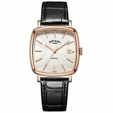 Rotary Genuine Leather Strap Polished Wristwatches