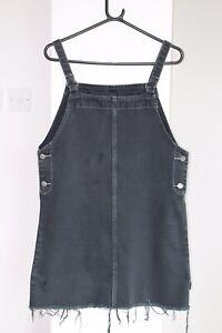 Women's RVCA Grey Dungaree Dress - Size Medium
