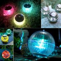 Solar Water Floating Fountain LightColor Changing Outdoor Garden Pool Pond Light