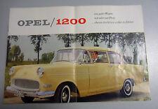 Opel ~1200 == uralter Verkaufsprospekt incl.Techn.Daten