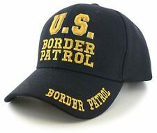U.S. Border Patrol Embroidered Hat Cap Black Gold Letters FAST SHIP FanzofSportz