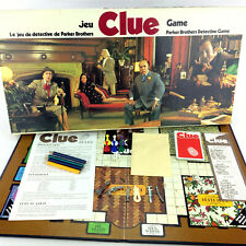Clue Board Game Vintage 1972 Parker Brothers Canadian Bilingual French English