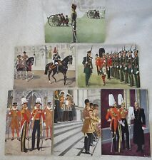 6 Vintage BRITISH UNIFORM POSTCARDS from WW2 US ARMY SOLDIER May 1944 Souvenirs