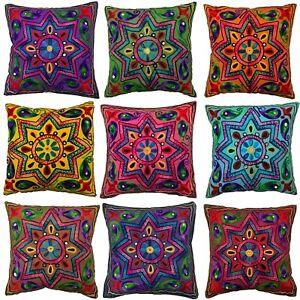 Indian Star Mandala Suzani Cushion Covers Eclectic Boho Pillow Case Gypsy 40 cm