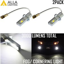 AllaLighting 12-LED H3 Fog Light Driving Bulb 6000K Super White,Easy Fit Upgrade