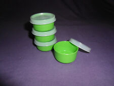 Tupperware set of 4 smidgets mini tiny small bowls seals containers pills crafts
