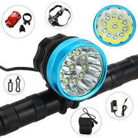 1SET Rechargeable 50000LM 11X XML T6 LED Bicycle Bike HeadLight Head Tail Light