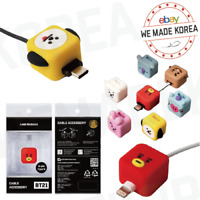 BT21 Character CUBIES Cable Protection Cap 7types Official K-POP Authentic Goods