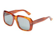 8e0b36af841 GUCCI Large Square Sunglasses GG 1150 S Blonde Havana Brown Green Lenses  0565L