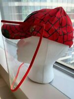 NEW KIDS SPIDER-MAN BASEBALL CAP HAT WITH FACE SHIELD MASK