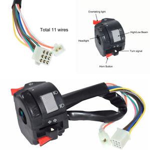 "7/8"" Motorcycle Handlebar Control Headlight Turn Signal Fog Light On Off Switch"