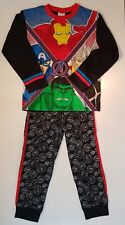 Marvel Avengers Pyjamas Boys Pjs Pyjama Set 100% Cotton 5-6 Years