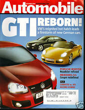 Automobile December 2004 GTI Reborn/Porsche Boxster
