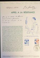 FRANCE MUSEE POSTAL FDC 20-90  APPEL A LA RESISTANCE DE GAULLE  2,30F PARIS 1990