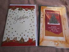 NEU -  2 x Doppelkarte WEIHNACHTEN u.a. Gutscheinkarte mit Einlegeblatt/Umschlag