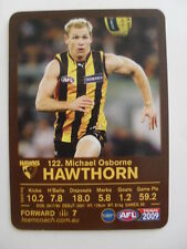 Hawthorn Hawks Football Club Michael Osborne AFL 2009 Team Coach Footy Card