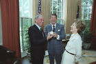 President Ronald Reagan First Lady With Frank Sinatra Oval Office 8.5x11 Photo