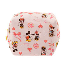 Disney Japan Mickey & Minnie Cube Pouch