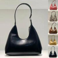U Top Real Leather Vintage Shoulder Bag Purse Baguette Top Handle Work Bag