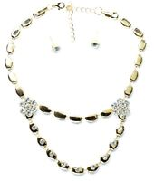 Necklace Earrings Sets Prom Wedding Party Bridal Jewellery Diamante Crystal UK