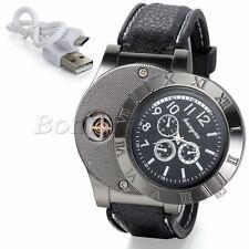 Mens Unique Military Decoration Quartz Wrist Watch Watches USB Cigarette Lighter