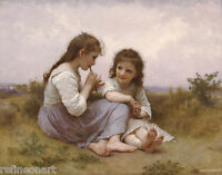 Distraction by William Adolphe Bouguereau Art Girl Smile Book 8x10 Print 0981