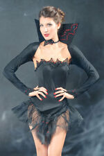 Sexy Women's Black Vampire Queen Halloween Fancy Dress Costume Party